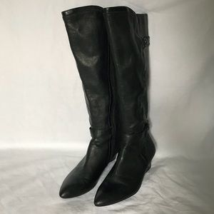 Black leather boots by Joan&David